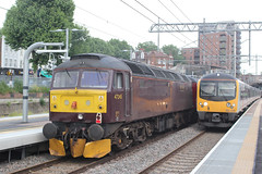 West Coast Railways . 47245 . West Ealing Station , London . Thursday 31st-May-2018 . (AndrewHA's) Tags: westealing railway station london west coast railways class 47 diesel locomotive loco brush 4 47245 cathedrals express dinning train excursion 1z72 paddington victoria d1992