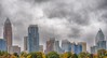 city_queen (gerhil) Tags: travel cityscapy skyline clouds storm weather charlotte nc autumn october2017 city sky building architecture skyscraper tree overcast landscape 1001nights
