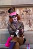 Barcelona Street Artist (David @ Rockets Photos) Tags: catalonia photospecs portrait barcelona artist quarter streetcatedraldesantaeulalia cathederal busker gothic imagetype holiday 2010s medieval