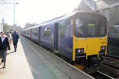 Arriva Rail North 150106 (with 150218)  2C21 1011 York - Leeds.  Headingley.  29th March 2018 (Ajax46.) Tags: headingley 150106 arrivarailnorth 29thmarch2018 150106stillingwrlivery 150218leading 2c211011yorkleeds