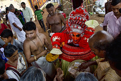 HL8A0589 (deepchi1) Tags: theyyam kerala india southindia festival dance costumes red facepaint facialpainting ritual worship gods danceofthegods hindu cult