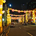 Southbridge road with festive illumination for the Chinese New Year in Chinatown Singapore thumbnail