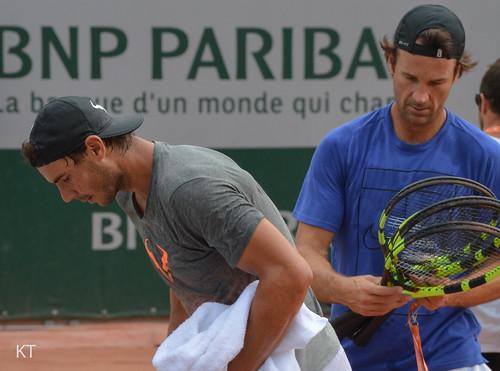 Rafael Nadal - End of practice
