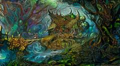 Cabaña Magica (cirooduber) Tags: ostagram visualart awardtree trollieexcellence digitalarttaiwan magicalforest forest magic