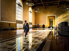 Union Station, Los Angeles (tritranla) Tags: california man unionstation zuiko1240mm dtla street people losangeles architecture candid em5ii olympus downtown