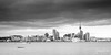 UNDER THE CLOUDS (Cor Lems) Tags: lights point newzealand devonport blackandwhite auckland reflection photography city cityscape bw northisland stanley blackwhite