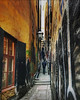 ~ narrow ~ Mårten Trotzigs alley, Old Town, Stockholm, Sweden (Tankartartid) Tags: bild picture norden nordic graffiti lamps window picsart highdynamicrange hdr steps stairs trappa trappsteg gamlabyggnader gamlahus gränd alley people oldbuildings stad building gamlastan oldtown city capital stockholm europe sverige sweden instagram