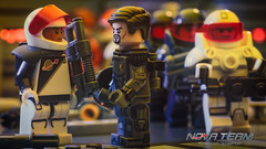 Reinforcements (Agaethon29) Tags: lego afol legography brickography legophotography minifig minifigs minifigure minifigures toy toyphotography macro cinematic 2018 legospace neoclassicspace spaceman classicspace space scifi sciencefiction ncs novateam customminifigure moc spacepolice