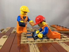 2018-099 - Floored (Steve Schar) Tags: 2018 wisconsin sunprairie iphone iphone6s project365 lego minifigure emmet build builder masterbuilder brick bricks construction floor tile