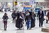 Crossing Bay Street (jer1961) Tags: toronto baystreet queenstreet pedestrian pedestriancrossing doublebass musicians orchestramusicians cello