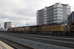 Waiting to Go East (II) (imartin92) Tags: emeryville california unionpacific railroad railway freight train locomotive ge generalelectric es44ac es44t4 gevo ac6000cw ac4400cw
