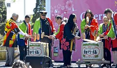 Cherry Blossom Festival, Japantown, opening ceremony, breaking open barrel of sake (David McSpadden) Tags: cherryblossomfestival japantown openingceremony sake barrel