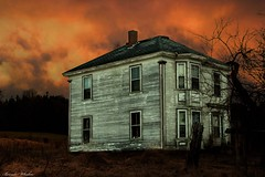 Abandon (whalenbrenda) Tags: sunset sunsetlover abandon house spooky canon canonshot longexposure dusk country rural novascotia mystery landscape sky clouds cloudscape oldhouse vacant