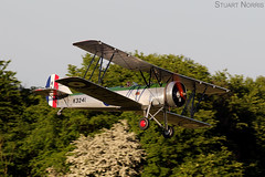 Tutor K3241 G-AHSA - The Shuttleworth Collection Old Warden (stu norris) Tags: tutor k3241 gahsa theshuttleworthcollection oldwarden avrotutor raf100 biplane theshuttleworthcollectionmayeveningairshow2018 sunset dusk tree