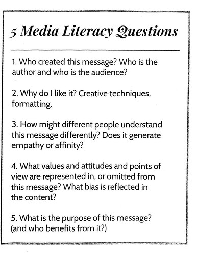 5 Questions for Media Literacy by Wesley Fryer, on Flickr
