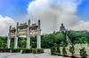 Hong Kong Big Buddha (Sander Pot) Tags: hongkong2016 ngong ping temple buddha big bigbuddha ngongping gate citygate lantau lantauisland clouds tiantanbuddha hongkong china sky cloudporn green trees square street nikon nikond7000