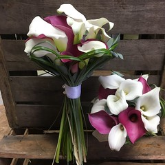Mixed Callas (Flowers by Moonstones - Fareham Florist) Tags: calla lily lillies white pink wedding bouquet flowers moonstones fareham florist marriage tied bridal