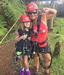 Zipline in Paradise (pete4ducks) Tags: evie emily zip lining hawaii 2015 hdr portrait family evangeline child daughter mother kid girl on1pics 500views