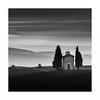 A Rose between two thorns (Nick green2012) Tags: tuscany illume church daybreak landscape square blackandwhite silence