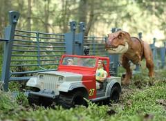 Must go faster! (rodstoybox) Tags: jurassicpark jurassicworld lostworld jurassic dinosaurs dinosaur trex mattel toys kenner tyrannosaurusrex fallenkingdom