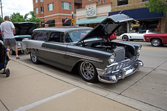Classic wagon (PrairieRailfan) Tags: carshow chevybelair downersgroveildowntown nikkor1685mmf3556 nikond7200 stationwagon summernightsclassiccarshow