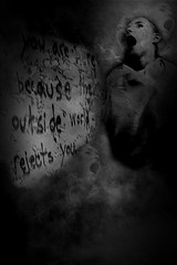 You Are Here... (Bill Eiffert) Tags: madness illness depression montage old sad scream