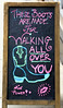 These Boots... (Atelier Teee) Tags: terencefaircloth atelierteee sign sandwichboard boots girlpower chicago illinois lips