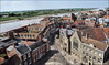 King's Lynn Town Hall And Queen Street From The Top Of King's Lynn Minster. (markself396) Tags: kingslynn hansefestival kingslynnminster highup