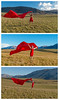 windy (threechairs) Tags: red dress wind blown model canterbury meadow mountains grass paddock hills woman