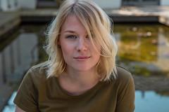 Denise | Porträt (Herr vom Bleiben) Tags: portrait augen face blond outdoor blonde frau gesicht girl porträt eyes schönheit beauty mädchen look woman haar hair
