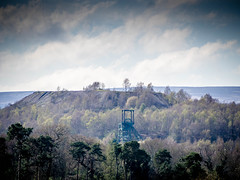 Colliery headgear and spoil tip. Wrexham. (Penfoel) Tags: colliery spoilheap trees wrexham mining wales collieryheadgear coal