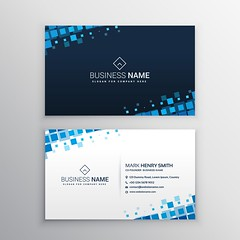 Business Card abstract business card with blue mosaic shapes (Best Designer BD) Tags: card business layout minimal print corporate id presentation template graphic clean abstract modern creative stationery contact company businesscard branding identity visiting mosaic