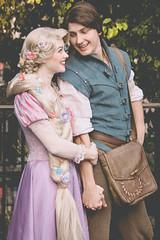 Rapunzel and Flynn (dolewhip) Tags: rapunzel tangled disney disneyland fantasyland fantasyfaire flynnrider
