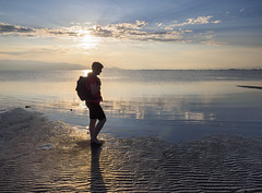(Pep Vargas) Tags: badia bahia deltadelebre trabucador platja playa beach gent gente people mar sea omd1