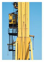 High office (leo.roos) Tags: yellow geel crane kraan hijskraan towercrane stairs staircase stairway konwilhelminahavennoordzijde harbour haven vlaardingen meyerorestor13528 1969 m42 zebra a7rii day135 dayprime dayprime2018 dyxum challenge prime primes lens lenzen brandpuntsafstand focallength fl darosa leoroos