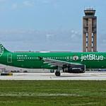 N595JB Celtics Lucky Blue Departs FLL JTPI 7265 thumbnail
