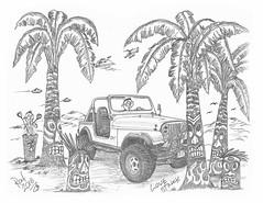 Love Struck (rod1691) Tags: myart art sketchbook bw scfi grey concept custom car retro space hotrod drawing pencil h2 hb original story fantasy funny tale automotive illustration greyscale moonpies sketch sexy jeep
