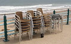 stacked (Mr Ian Lamb 2) Tags: tables chairs seaside coast sea northtyneside northeast whitleybay