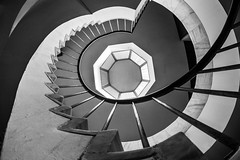 Some things  never change / teeth of the stairs (Özgür Gürgey) Tags: 12mm 2018 archaeologymuseums bw d750 nikon samyang architecture fisheye spiral stairs istanbul
