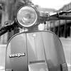 Vespa (Gabo Barreto) Tags: leeds vespa scooter motorcycle headlight film 120 mediumformat 6x6 tmax tmx expiredfilm xtol kodak kiev88cm commiecamera russiancamera slr selfdeveloped scannedfromfilm monochrome blackandwhite filmisnotdead ishootfilm analoguephotography badge piaggio