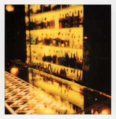 The Redwood Room (tobysx70) Tags: polaroid originals color 600 instant film slr680 the redwood room clift hotel geary street san francisco california ca bar cocktail liquor alcohol booze bottles mirror reflection bokeh illuminated lit yellow vanishing point polavacation 042518 toby hancock photography