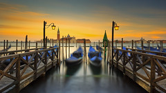 A magic venetian sunset (Bernhard Sitzwohl) Tags: sunset venice italy travel travelphotography magic water jetty gondola outdoor veneto canale lagoon boat sky clouds sea simplysuperb greatphotographers