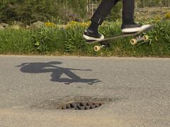 ollie (davidnofish) Tags: em1 ollie skateboard jump shadow durris aberdeenshire scotland uk