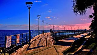 Blue Water, Pink Sunset - Limassol, Cyprus
