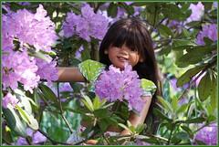 Kindra ... unsere kleine Blumenkönigin ... (Kindergartenkinder 2018) Tags: gruga grugapark essen azaleen kindergartenkinder kindra rhododendron annette himstedt