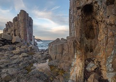 Late afternoon at Bombo quarry (keithhorton3) Tags: bombo quarry late afternoon kiama new south wales australia rock latite basalt nature sea canon 6d naturephotography clouds pattern sky hdr