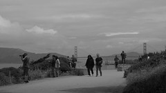 Land's End (Jay Pasion) Tags: jaypasion nikon tamron sanfrancisco california goldengatebridge people bay nature bw blackandwhite monochrome