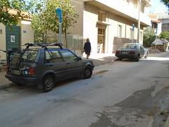 1988 Toyota Starlet & 1987 Nissan Sunny (Alpus) Tags: rare cars greece athens 2016 october japanese nissan sunny toyota starlet