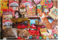 Paw Drops & Sugar Mice (Steve Read) (Leonisha) Tags: puzzle jigsawpuzzle cats chats kittens kätzchen katzen süssigkeiten candies