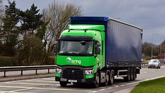 YX15 DPO (Martin's Online Photography) Tags: renault seriest truck wagon lorry vehicle freight haulage commercial a580 leigh transport lancashire nikon nikond7200